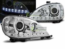 Coppia di Fari Anteriori LED DRL Look Mercedes W163 Classe ML Daylight Cromati I
