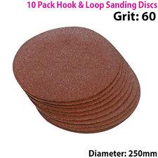 Qté 10 - 250mm 10 pouces de ponçage disques 60 grain-Orbit Sander-Crochet & Boucle