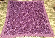 Handmade  crochet (purple variegated) baby crib blanket