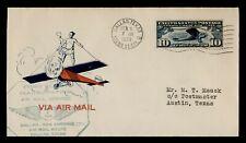 DR WHO 1928 DALLAS TX FIRST FLIGHT AIR MAIL C196110