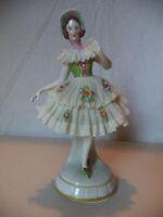 Antique Vintage German Dresden Lace Lady Porcelain Figurine Statue!