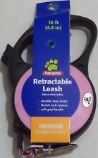 Top Paw Retractable Dog Leash, Color Pink Medium For dogs up to 89 lb (43.8 kg)