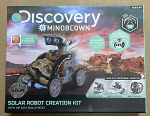 Discovery # Mindblown Solar Robot Creation Kit 190 Easy-Build Pieces( Open Box )