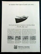 1966 ROYAL BANK Every Customer Is A VIP Canadian Magazine Ad