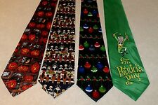 NEW 4 Holiday Men's Neck Ties Halloween Thanksgiving Christmas St Pats   #3