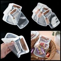 For Mason Jar Zipper Bags Food Storage Saver Snack Sandwich Zip Bags Clear 12Pcs
