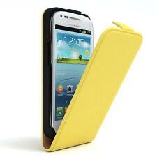 Tasche für Samsung Galaxy S3 Mini Flip Case Schutz Hülle Handy Cover Gelb