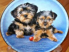 Danbury Mint Yorkshire Terrier Forever Your Friend Yorkie  Puppy Dog Plate MINT