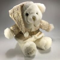 "Dan Dee 2001 Keepsake New Year's Teddy Bear Plush 18"" Gold Sparkle Suit and Hat"