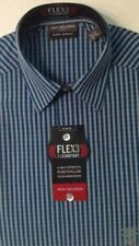 Van Heusen Blue Flex3 4 Way Stretch Slim Fit Dress Shirt XS 13 13.5 32/33