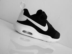 NIKE AIR MAX OKETO Sneaker Kinderschuhe Klettverschluss schwarz/weiß Gr.25