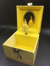 "Disneyland Only Princess Belle ""Beauty And The Beast Jewelry"" Music Box Disney"