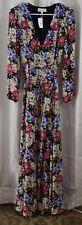 WAYF Lila Long Sleeve Wrap Gown Floral Size Medium