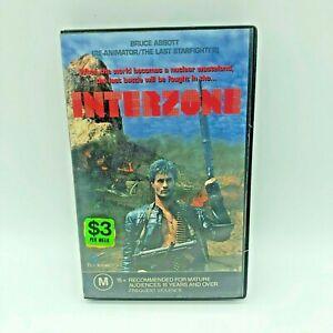 Interzone Rare 1989 VHS PAL Video ExRental Bruce Abbott Cult B Movie Apocalyptic