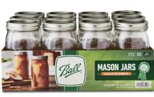 Ball 32Oz Wide Mouth Canning Mason Jar Lids, Bands Clear Glass Quart Jars 12/Box