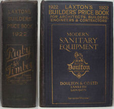 1922 LAXTON'S BUILDERS PRICE BOOK ARCHITECTS ENGINEERS CONTRACTORS 200+ ADVERTS
