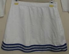 Real Authentic Genuine White Blue Silver Cheerleading Skirt Cheer Fantastic