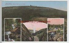 (76281) AK Brocken, Harz, Brockenbahn, Eckerloch, Mehrbild, vor 1945