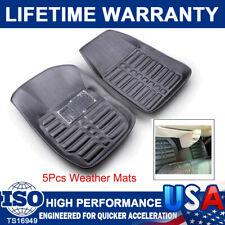 5 Car Floor Mat All Weather Rubber Heavy Duty Motor Trend TriFlex Deep Dish Mats