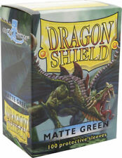 Matte Dragon Shields Standard Size Card Protector Sleeves MTG 100ct Green box