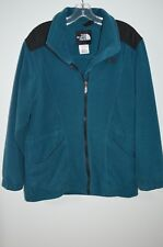 The North Face Blue Full Zip 100% Polyester Fleece Long Sleeve Jacket Size M