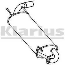 Klarius Rear Exhaust Back Box Silencer + Tail Pipe MA285D - 5 YEAR WARRANTY