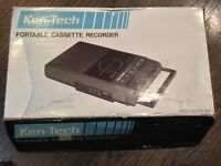 Ken-Tech TCR-800 Portable Cassette Recorder NEW (VINTAGE) IN BOX