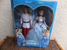 Disneys Special 50th Anniversary Cinderella & Prince Dolls 2005 NRFB MIB