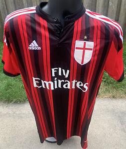 AC Milan Fly Emirates Rare El Shaarawy Home Shirt Jersey Adidas X-Large XL  READ