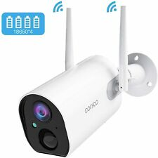 Conico Outdoor Security Camera, Wireless Rechargeable Battery Powered Camera