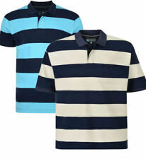 NEW MENS BIG TALL STRIPED RUGBY PIQUE POLO  TOP SHIRT 2XL3XL4XL5XL6XL7XL8XL
