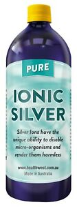 Colloidal/ionic Silver 1 Litre  20 PPM Positively Charged Bacteriostatic