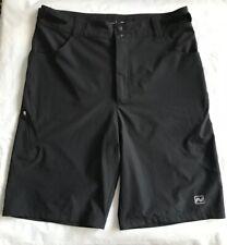 Nishiki Black Flat Front Polyester Blend Cycling Shorts Men's Size Medium