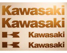 Kawasaki Autocollant Moto Tank Sticker Lettrage Set-Or -