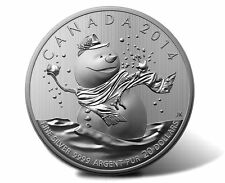 Canada 2014 $20 for $20 0.9999 pure Fine Silver Coin - Snowman