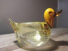 Vintage Seguso Murano Sommerso Art Glass Duck Bird Dish STUNNING