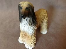 "1992 Black Masked Red Afghan Hound Dog Figurine Statue 4"" Tall"
