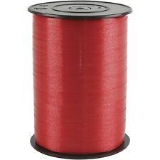 Cinta que se encrespa Rojo 250m Roll-Brillante Doble Cara-Adorno De Envoltura De Regalo Navidad