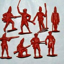 Marx 2 sets  60mm Unpainted Plastic figures British Redcoats and Americans