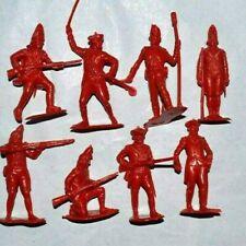 Marx AWI set 60mm Unpainted Plastic figures British Redcoats