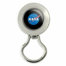 NASA Official Meatball Logo Retractable Belt Clip Badge Key Holder