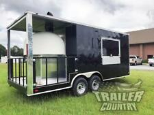 New 2021 8.5X20 Enclosed Wood Fired Brick Pizza Oven Concession Kitchen Trailer