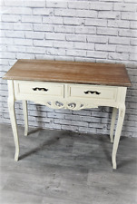 Console Hall Dressing Table 2 Drawer Cream French style Carved Table