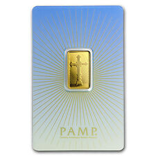 5 g Gold Bar - PAMP Suisse Religious Series (Romanesque Cross) - SKU #94444