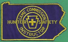 Pennsylvania Game Commission 1980 Pa State Shaped Hunter Safety Instructor Patch