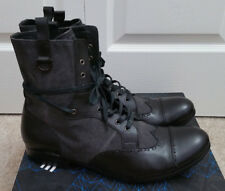 SCHMOOVE LEATHER VARVATOS CANVAS COMBAT LEATHER NDC BOOTS