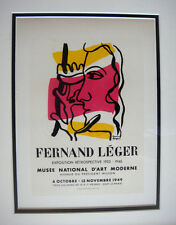 Fernand  LEGER Musée National d'Art Exposition Poster FRAMED Signed COA