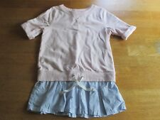 CARTER'S GIRL'S 2 PIECE, PINK SHIRT AND JEANS SET. SIZE 8 PREOWNED (SE)