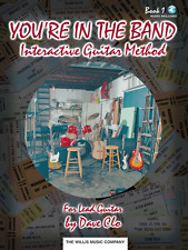 """You'Re In The Band"" Interactive Guitar Method-Music Book/Online Access-New-Sale"