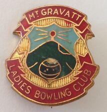 Mt Gravatt Ladies Bowling Club Badge Pin Rare Vintage (M16)